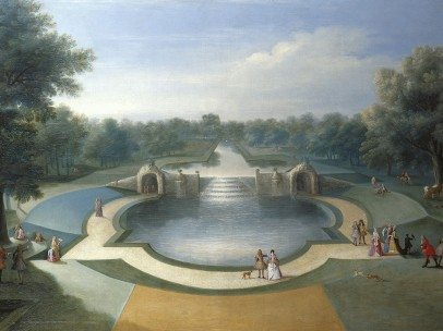 Marco Ricci, A View of the Cascade, Bushy - Park Water Gardens, c.1715