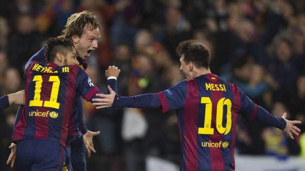 Rakitic, Neymar y Messi