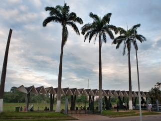 Stadium at KNUST (Kwame Nkrumah University of Science and Technology), Kumasi (Ghana), by KNUST Development Office, 1964-1967
