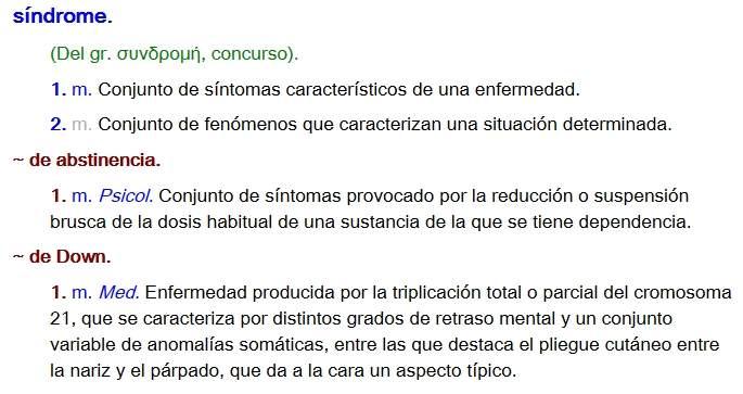 Lider Artesanato Pedreira ~ La RAE actualizará la definición de Síndrome de Down, pero aún no la de mongólico o subnormal