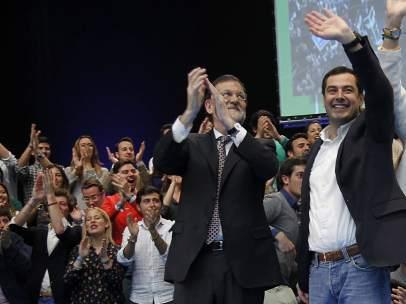 Mariano Rajoy y Juanma Moreno