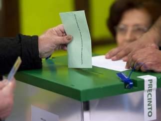 Papeleta en las elecciones andaluzas