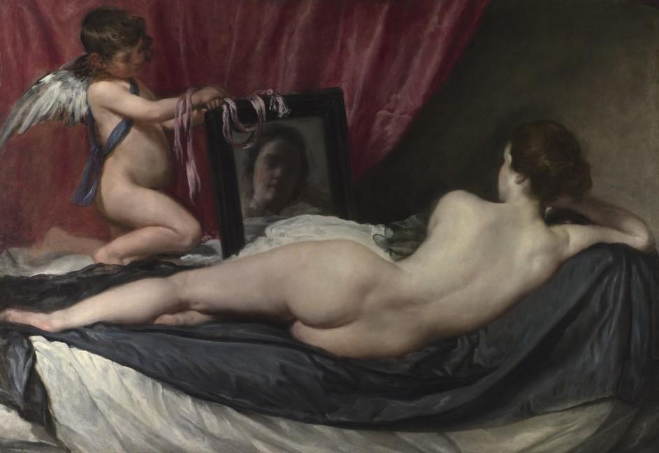 Diego Velázquez - La Venus del espejo, c. 1647-1651 - National Gallery Londres