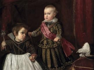 'El príncipe Baltasar Carlos con un enano', c. 1631