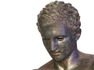 'Detail of head of Apoxyomenos'