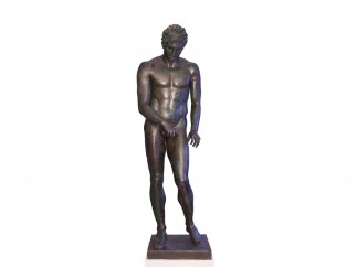 Apoxyomenos. Bronze, Hellenistic or Roman replica after a bronze original from the second quarter or the end of the 4th century BC