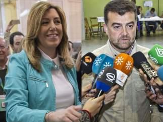 Susana Díaz y Antonio Maíllo