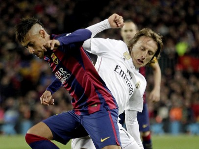 Luka Modric y Neymar