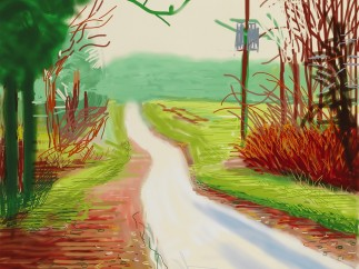 David Hockney, The Arrival of Spring in Woldgate, East Yorkshire in 2011, February 2011