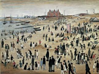 L.S. Lowry,July, the Seaside, 1943