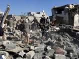 Bombardeo saudí en Yemen