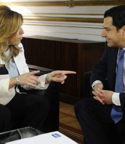 Susana D�az y Juan Manuel Moreno.