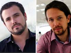 Alberto Garz�n y Pablo Iglesias