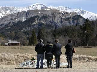 Familiares de las víctimas del accidente de Germanwings
