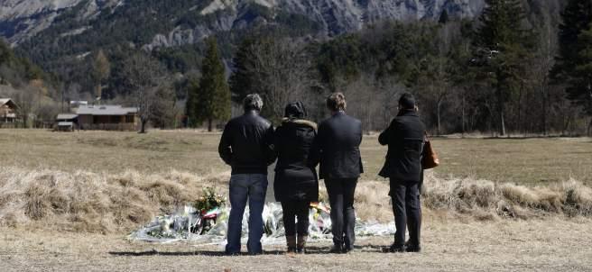 Familiares de las víctimas del accidente de Germanwings