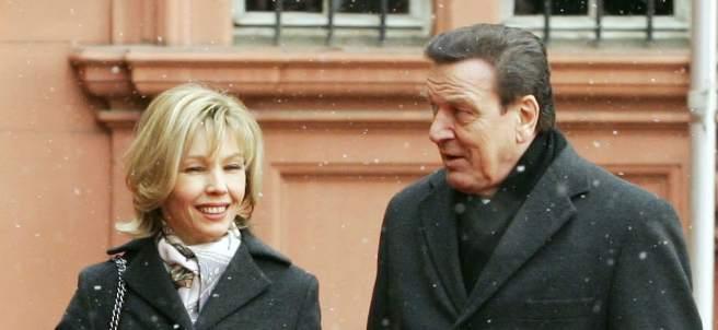 Gerhard Schröder y Doris Schröder-Köpf.