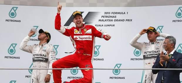 La euforia de Vettel