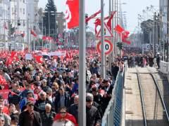 Protesta en T�nez