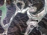 La sequía de un río, desde el espacio