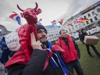 Protesta por el fin de las cuotas l�cteas