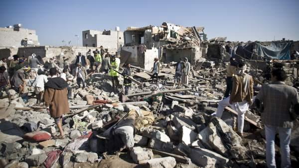 Destrucción en Yemen