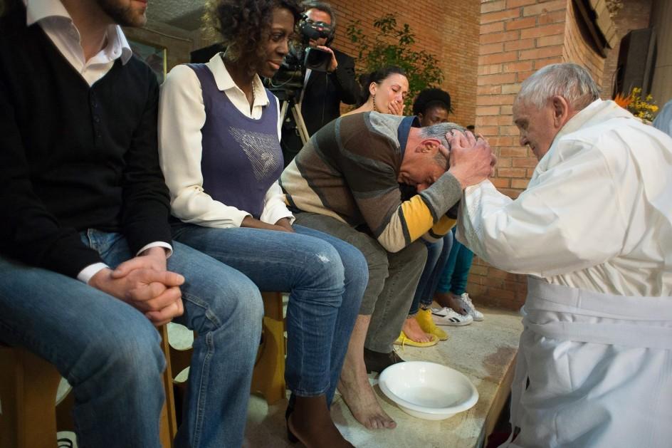 El papa conmemora la Última Cena