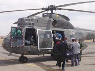 Helicóptero de rescate que partió en busca de tres espeleólogos españoles en Marruecos