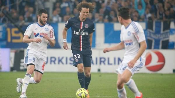 David Luiz ante el Olympique de Marsella