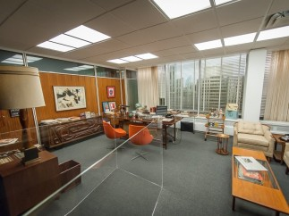 Don Draper's office, set