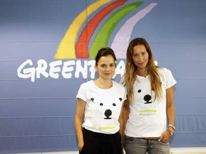 """Elena Anaya y Gemma Mengual durante la presentación de la expedición """"Mujeres por el Ártico"""""""