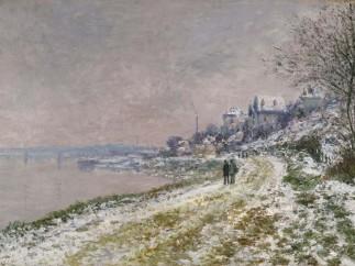Claude Monet, Le Chemin d'Epinay, effet de neige, 1875