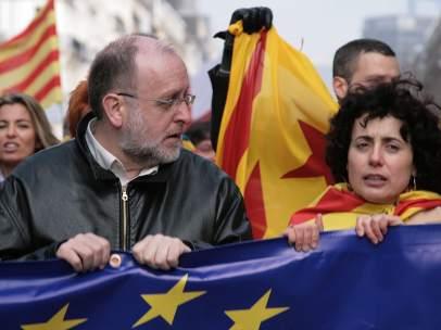 Àngel Colom, exdirigente de Esquerra Republicana de Catalunya (ERC), y actual presidente de la fundación Nous Catalans, vinculada a Convergència Democràtica de Catalunya (CDC).
