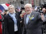 Marine Le Pen y Jean-Marie Le Pen