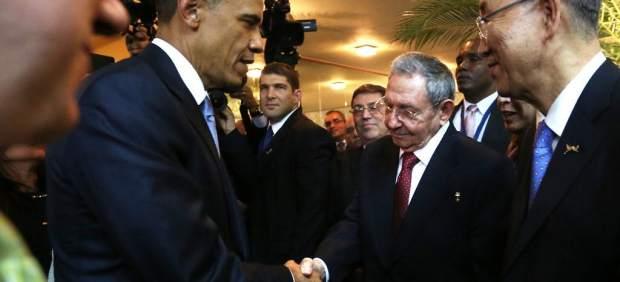 Apretón de manos Obama - Castro