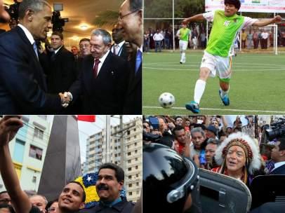 Momentos de la Cumbre de las Américas de Panamá