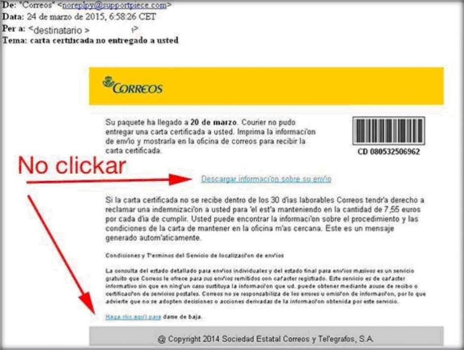 Alertan de una nueva campaña de spam por email que suplanta a ...