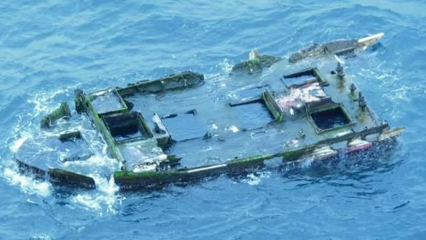 Restos del tsunami