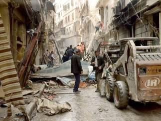 Bombardeo en Alepo