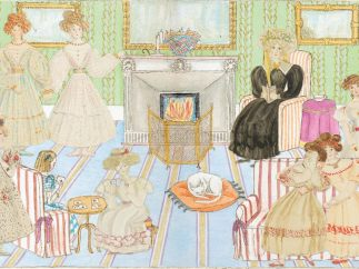 Illustration from 'The Adventures of Alice Laselles' of Mrs Duncombe�s school for girls