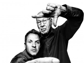 Platon with George Lois, 2012