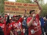 Trabajadores de Coca Cola.