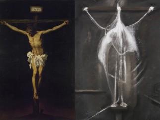 Alonso Cano, 'La crucifixi�n' - Francis Bacon, 'Crucifixion'