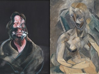 Francis Bacon, 'Portrait of Isabel Rawsthorne', 1966 - Pablo Picasso, 'A Young Lady', 1909