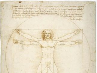 Leonardo da Vinci - 'Le proporzioni del corpo umano secondo Vitruvio' (Uomo vitruviano), c. 1490