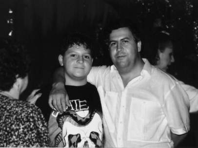 Escobar y su hijo