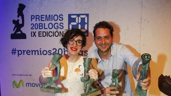La gala de los IX Premios 20Blogs