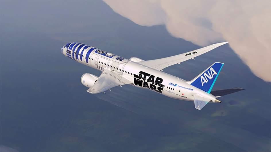 Un avión comercial inspirado en R2-D2 de 'Star Wars'