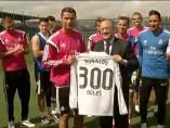 Homenaje a Cristiano por sus 300 goles en el Madrid