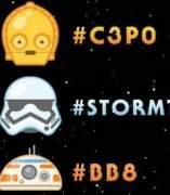 Emojis sobre Star Wars