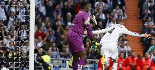 El Real Madrid gana sufriendo al Málaga (3-1) y se mantiene en la lucha por la Liga